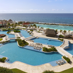 Hard rock riviera maya aerial of hacienda pool
