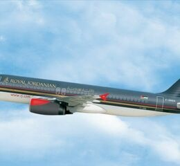 Royal jordanien airplane in the air