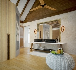 Ozen by atmosphere at maadhoo beach villa view tub