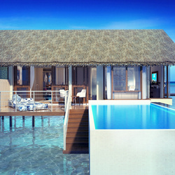 Ozen by atmosphere at maadhoo water villa view pool