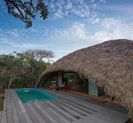 Chena huts by uga escapes bali cabin exterior plunge pool and deck