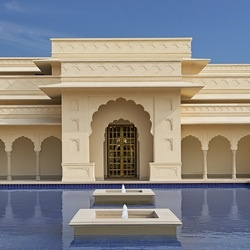 The oberoi sukhvilas chandigarh lobby courtyard